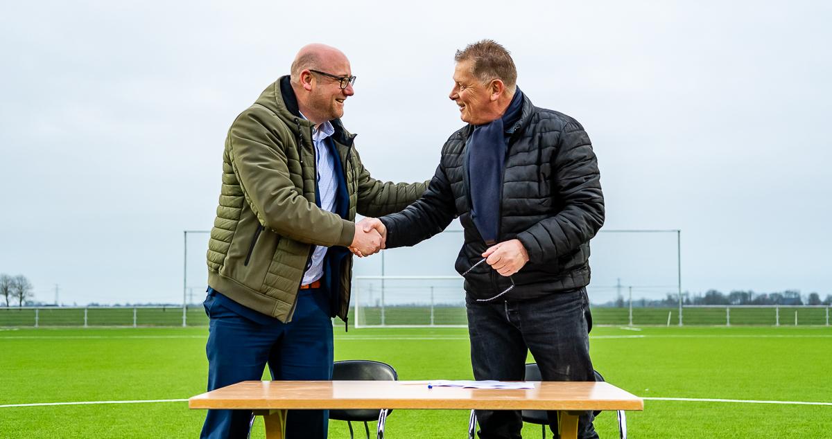 Onthulling naam nieuw sportpark vv Winsum